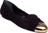 Tory Burch Kaitlin Smoking Loafer Black Suede