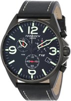 Torgoen Swiss Men's T16101 Aviation Chronograph Dial Leather Strap Watch