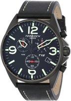 Torgoen Swiss Men's T16101 Aviation Chronograph Dial Leather Strap Watch