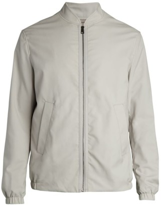 Saks Fifth Avenue COLLECTION Water Repellent Wool Bomber Jacket