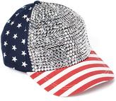 David & Young Navy Rhinestone Americana Baseball Hat