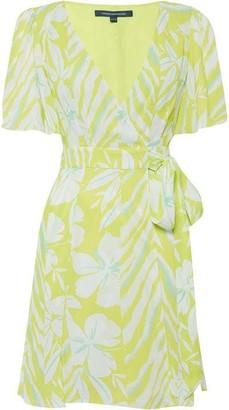 French Connection Diah Crepe Faux Wrap Mini Dress