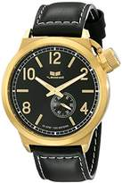 Vestal Unisex CTN3L13 Canteen Leather Analog Display Analog Quartz Black Watch