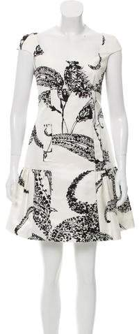 Giambattista Valli Abstract Print Silk-Blend Dress