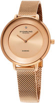 Stuhrling Original Womens Rose Goldtone Strap Watch-Sp15765