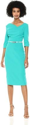 Black Halo Women's 3/4 SLV Jackie O Sheath Dress
