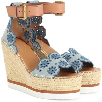 See By Chloã© Suede wedge sandals
