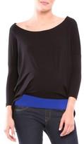 Olian Women's 'Margarett' Drape Maternity Top