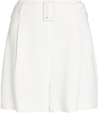 Intermix Aya Belted Crepe Shorts