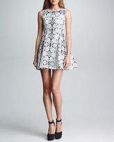 Nanette Lepore Trapeze Girl Snake-Print Dress