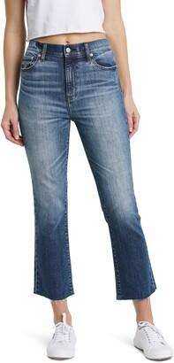 DAZE Shy Girl High Waist Crop Flare Jeans