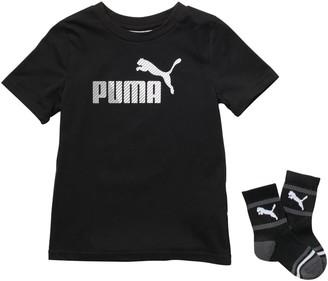 Puma Logo Graphic 2-Piece T-Shirt & Socks Set