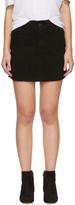 Frame Black Denim 'Le Mini Frayed Edges' Miniskirt