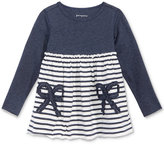 First Impressions Bows & Stripes Cotton Babydoll Tunic, Baby Girls (0-24 months), Only at Macy's