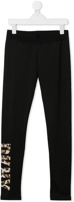 DKNY TEEN logo-print slim-fit leggings