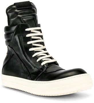 Rick Owens Geobasket Sneakers in Black | FWRD