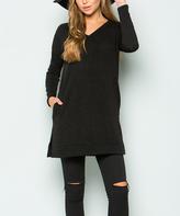 Sweet Pea Black Sweater Tunic