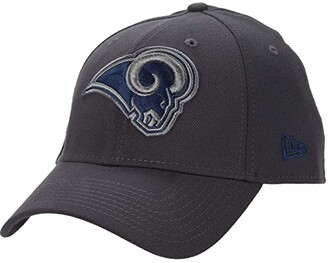New Era NFL Stretch Fit Graphite 3930 -- Los Angeles Rams (Graphite) Baseball Caps