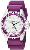 Momentum Women's Quartz Stainless Steel and Rubber Diving Watch, Color:Purple (Model: 1M-DN11LE1E)