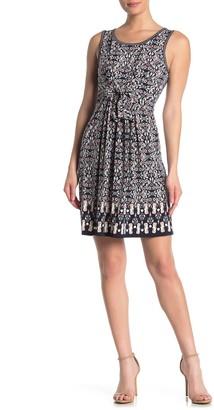 Max Studio Floral Tie Front Tank Dress