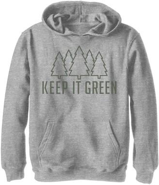 Fifth Sun Boys 8-20 Keep It Green Graphic Hoodie