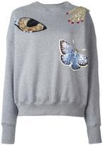 Alexander McQueen sequin embellished sweatshirt