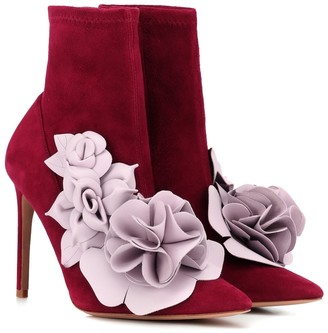 Sophia Webster Exclusive to Mytheresa Jumbo Lilico suede and leather ankle boots