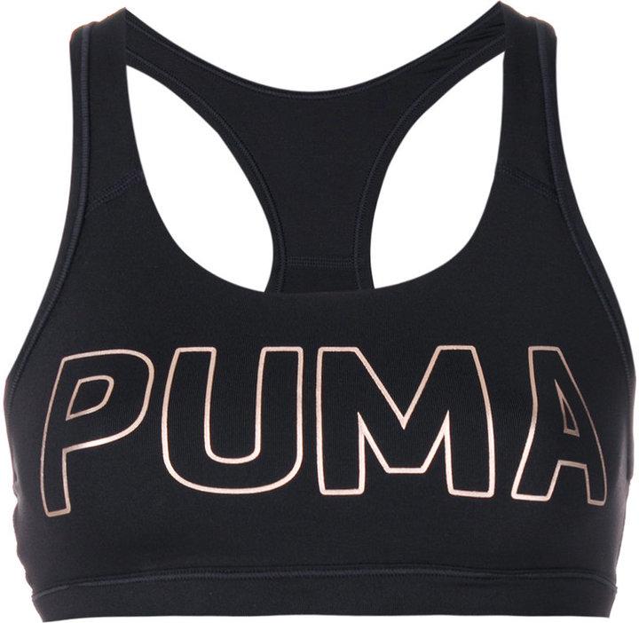 Puma metallic logo compression top