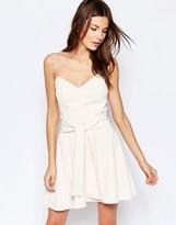 Keepsake Get Free Strapless Mini Dress in Bisque