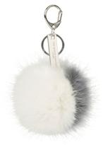 The White Company Mini Two Tone Pom-Pom Key Ring