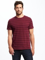 Old Navy Textured-Stripe Pocket Tee for Men