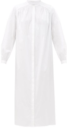 LA COLLECTION Bea Cotton-blend Poplin Midi Shirt Dress - White