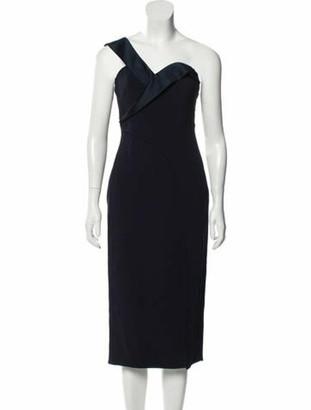 Brandon Maxwell Sleeveless Knee-Length Dress w/ Tags blue