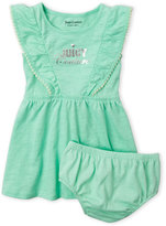 juicy couture (Infant Girls) Two-Piece Slub Knit Dress & Bloomers Set