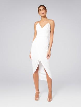Ever New Charlotte Petite Drape Maxi Dress