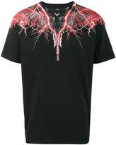 Marcelo Burlon County of Milan red lightning print t shirt