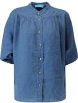 MiH Jeans Polka-Dot Linen Shirt