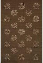 Martha Stewart Medallions Onyx Silk/ Wool Rug (5' 6 X 8' 6)