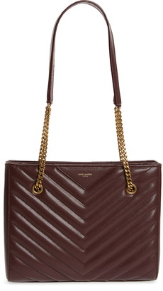 Saint Laurent Small Tribeca Quilted Calfskin Leather Tote