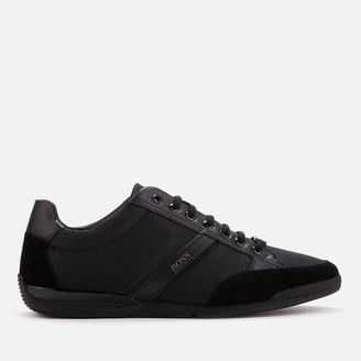 HUGO BOSS Men's Saturn Low Profile Trainers - Black