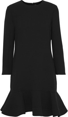Victoria Victoria Beckham Flared Crepe Mini Dress