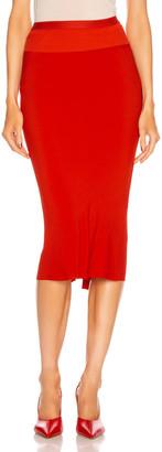 Rick Owens Knee Length Skirt in Cardinal Red | FWRD