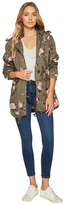 Members Only Olive Floral Anorak Women's Coat