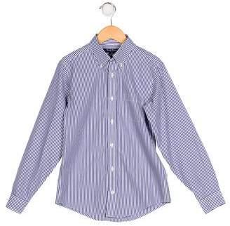 Brooks Brothers Boys' Pinstripe Button-Up Shirt