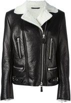 Ermanno Scervino shearling biker jacket