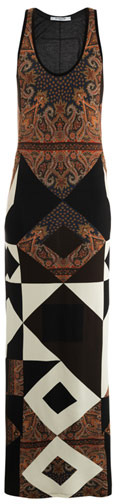 Givenchy Scarf print maxi tank dress