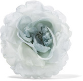 Gucci Floral Silk Brooch - Gray