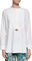 Figue Evil Eye Tuxedo Shirt, White