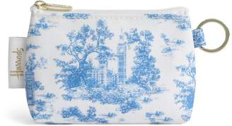 Harrods Toile Keyring Coin Purse