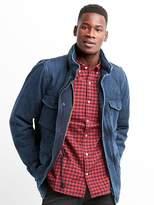 Gap Denim camo-lined shirt jacket
